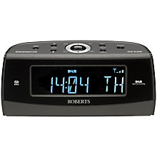 Buy ROBERTS ChronoDAB DAB/FM Digital Clock Radio, Black Online at johnlewis.com