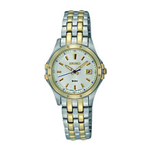 Buy Seiko Women's Date Display Stainless Steel Bracelet Watch Online at johnlewis.com