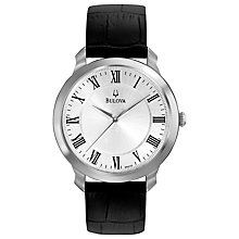 Buy Bulova Men's Dress Leather Strap Watch Online at johnlewis.com