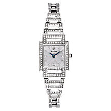 Buy Bulova 96L140 Women's Crystal Diamond Set Square Bezel Bracelet Watch Online at johnlewis.com