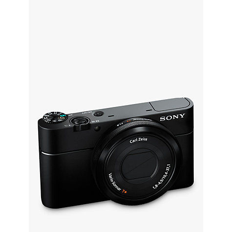 "Buy Sony Cyber-shot DSC-RX100, HD 1080p, 20.2MP, 3.6x Optical Zoom, 3"" LCD Screen, Black Online at johnlewis.com"