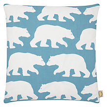 Buy Anorak Kissing Bears Cushion, Cream/Blue Online at johnlewis.com