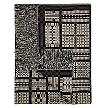 John Lewis Woven Welsh Knit Throw, Monochrome