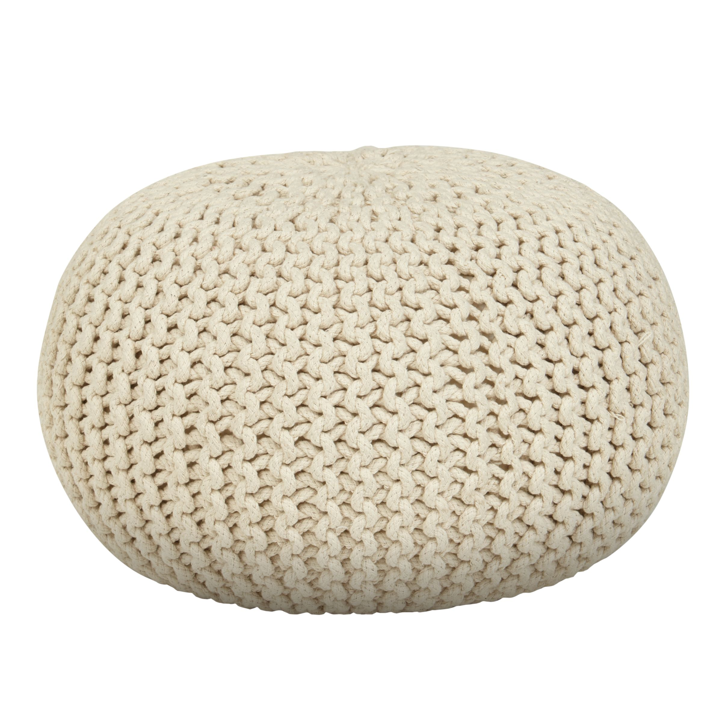 Small round knitted pillow. Craft me Happy!: Small round knitted pillow.