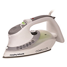 Buy Morphy Richards Comfigrip Steam Iron, Grey/Green Online at johnlewis.com