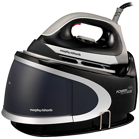 Buy Morphy Richards Power Steam Elite Steam Generator Iron, Black Online at johnlewis.com