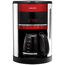Buy Morphy Richards Accents Filter Coffee Machine, Red Online at johnlewis.com