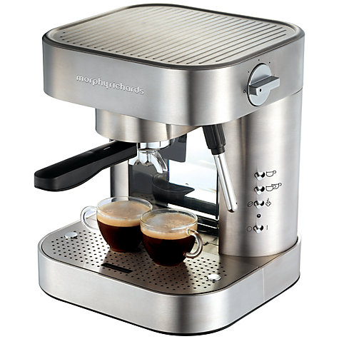 Buy Morphy Richards Elipta Espresso Automatic Coffee Machine, Brushed Steel Online at johnlewis.com
