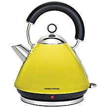 Buy Morphy Richards Accents Kettle and 4-Slice Toaster, Yellow Online at johnlewis.com