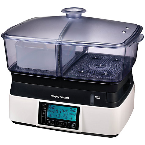 Buy Morphy Richards 48775 Intellisteam Food Steamer, Black Online at johnlewis.com
