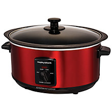 Buy Morphy Richards Sear and Stew Slow Cooker, Red Online at johnlewis.com