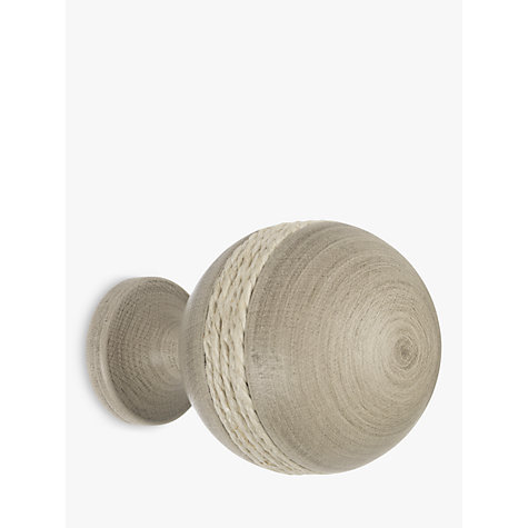 Buy John Lewis Grey Rope Ball Finial, Dia.35mm Online at johnlewis.com