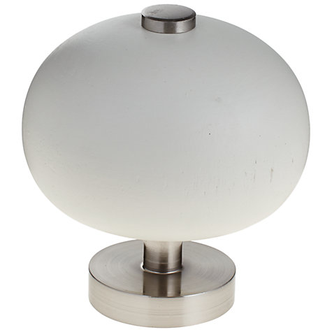 Buy John Lewis New White Orb Finial, Dia.35mm Online at johnlewis.com