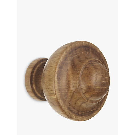 Buy John Lewis Solid Oak Kiel Finial, Dia.35mm Online at johnlewis.com