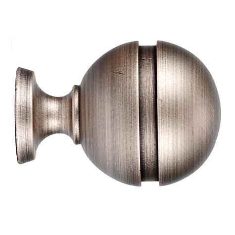 Buy John Lewis Dark Pearl Ball Finial, Dia.35mm Online at johnlewis.com