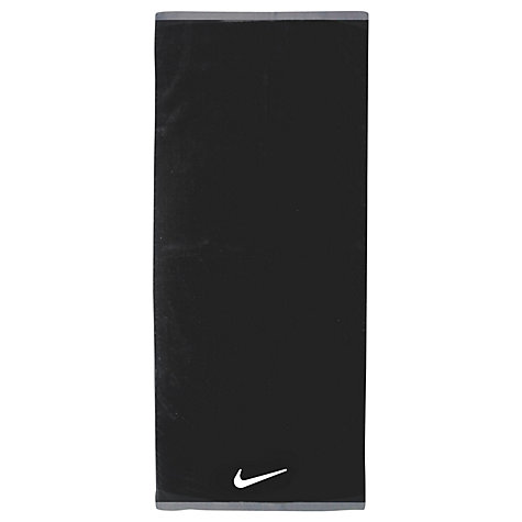 Buy Nike Fundemental Towel, Black Online at johnlewis.com