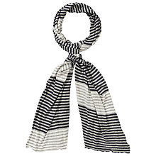 Buy Collection WEEKEND by John Lewis Stripe Jersey Scarf Online at johnlewis.com