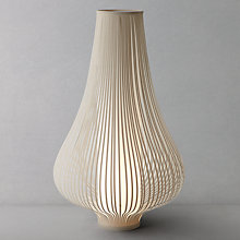 Buy John Lewis Harmony Ribboned Lamp, Natural, Large Online at johnlewis.com