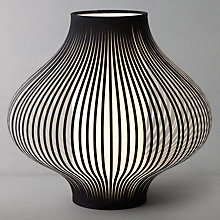 Buy John Lewis Harmony Ribboned Table Lamp, Black, Small Online at johnlewis.com