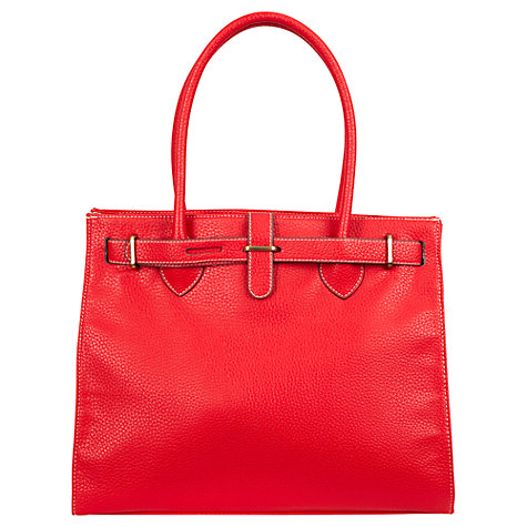 Buy CC Metal Link Handbag, Red Online at johnlewis.com