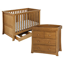 Buy Silver Cross Canterbury Bed and Dresser Set, Oak Online at johnlewis.com