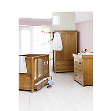 Buy Silver Cross Canterbury Dresser and Wardrobe Set, Oak Online at johnlewis.com