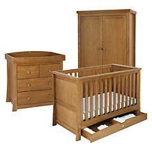 Buy Silver Cross Canterbury Cot Bed, Dresser and Wardrobe Set, Oak Online at johnlewis.com