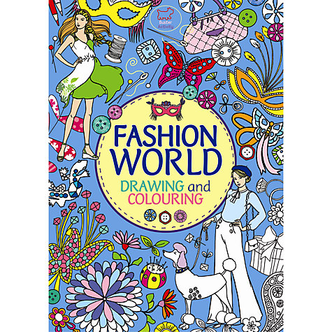 Buy Fashion World: Drawing and Colouring Book Online at johnlewis.com
