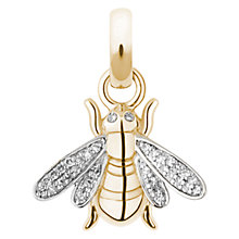 Buy Links of London 18ct Gold Diamond Detail Bee Charm, Gold Online at johnlewis.com