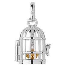 Buy Links of London Sterling Silver Birdcage Charm, Silver Online at johnlewis.com