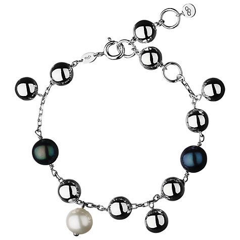 Buy Links of London Sterling Silver Effervescence Freshwater Pearl Bracelet, Silver Online at johnlewis.com