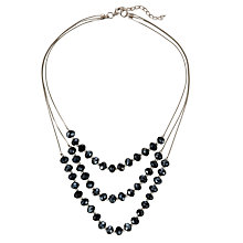 Buy John Lewis 3 Row Beaded Necklace, Black Online at johnlewis.com