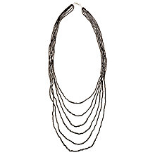 Buy John Lewis Fine Beaded Multi Layer Necklace, Black Online at johnlewis.com