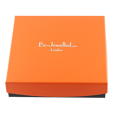 Buy Be-Jewelled Sterling Silver Amber Bead Collar Necklace, Orange/Yellow Online at johnlewis.com