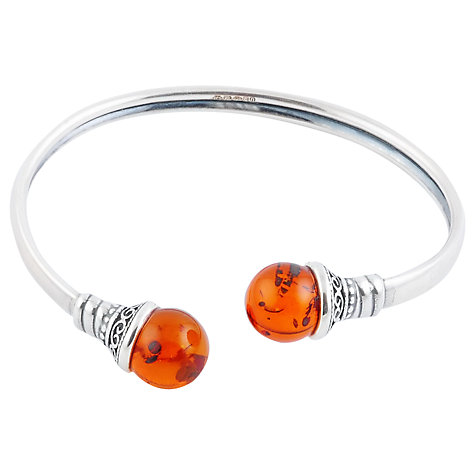 Buy Be-Jewelled Flexible Sterling Silver Torque Online at johnlewis.com