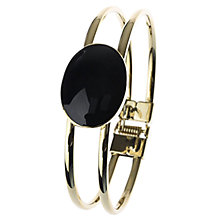 Buy Adele Marie Oval Crystal Bangle, Gold/Black Online at johnlewis.com