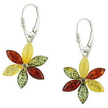 Buy Be-Jewelled Flower Design Drop Earrings, Multi Online at johnlewis.com