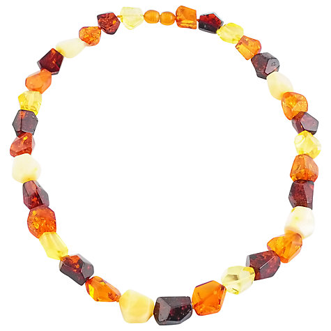 Buy Be-Jewelled Chunky Facet Baltic Amber Bead Necklace Online at johnlewis.com