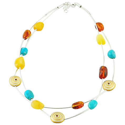 Buy Be-Jewelled Two Strand Multicolour Amber Necklace Online at johnlewis.com