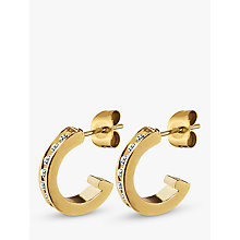 Buy Dyrberg/Kern Desolo Crystal Hoop Earrings Online at johnlewis.com