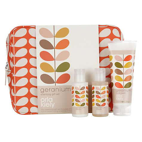 Buy Orla Kiely Geranium Bath and Body Gift Set with Toiletries Bag Online at johnlewis.com