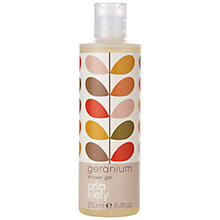 Buy Orla Kiely Geranium Shower Gel, 250ml Online at johnlewis.com