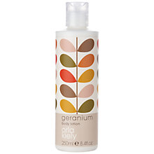 Buy Orla Kiely Geranium Body Lotion, 250ml Online at johnlewis.com