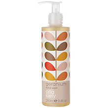 Buy Orla Kiely Geranium Hand Wash, 250ml Online at johnlewis.com