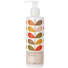 Buy Orla Kiely Geranium Hand Lotion, 250ml Online at johnlewis.com