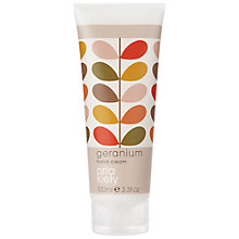 Buy Orla Kiely Geranium Hand Cream, 100ml Online at johnlewis.com