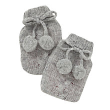 Buy John Lewis Pom Pom Knit Handwarmer, Grey Online at johnlewis.com