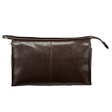 Buy John Lewis PU Traditional Wash Bag, Brown Online at johnlewis.com
