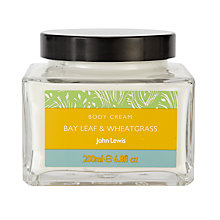 Buy John Lewis Bay Leaf and Wheat Grass Bath and Body Cream, 200ml Online at johnlewis.com