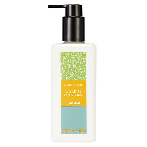 Buy John Lewis Bay Leaf and Wheat Grass Hand Lotion, 300ml Online at johnlewis.com
